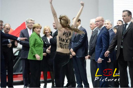 Vladimir Putin gives 2 thumbs up to topless protestor | Funny Pics | Funny Pictures | Funny Videos | Lol Videos | lolpictures | Scoop.it