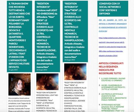 CDD 4 BLOGSPOT Comitato Difendiamo la Democrazia : DAL CASO FERRARO ATTRAVERSO LA GRANDEDISCOVERY, ALLA ENUCLEAZIONE DEL GOLPE STRISCIANTE E DELLE ATTIVITA' E METODOLOGIE CRIMINALI, SINO ALLA RICOS... | CDD LA INTERA GRANDE DISCOVERY | Scoop.it