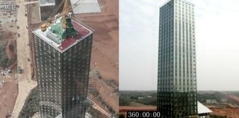 Construction d'un hôtel de 30 étages en 15 jours en Chine   Construire en Acier   Scoop.it