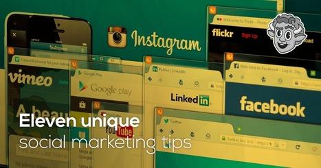 11 Unique social media marketing tips | The Perfect Storm Team | Scoop.it