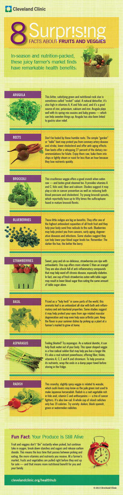 8 Surprising Facts About Fruits And Veggies Infographic | Healthy Whole Foods | Scoop.it