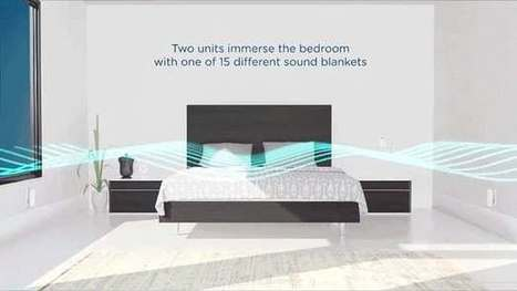 "Nightingale Sleep encourages slumber under a white noise ""sound blanket"" 