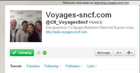 Voyages-sncf.com : le service relation clients sur Twitter | Train | Scoop.it