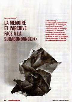 La mémoire et l'archive face à la surabondance | Numérisation & Valorisation | Scoop.it