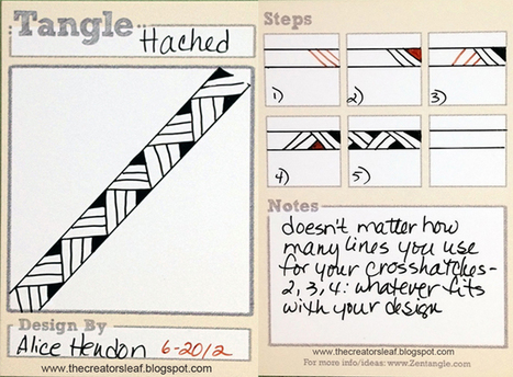 The Creator's Leaf: Hached - A New Pattern | Artistic Line Designs-all free | Scoop.it
