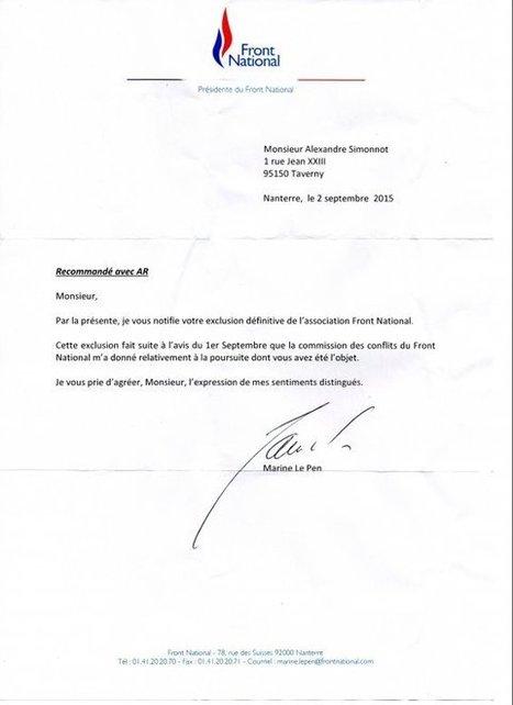 Un proche de Jean-Marie Le Pen exclu du Front national - Francetv info | vigilance | Scoop.it