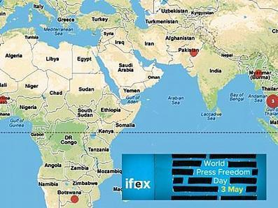 Mapa interactivo del Día Mundial de la Libertad de Prensa - IFEX | Educommunication | Scoop.it
