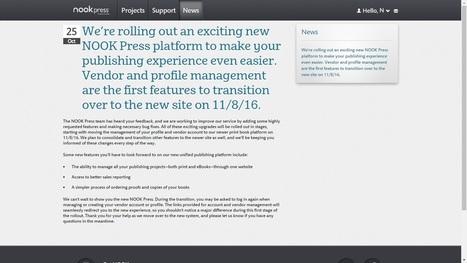 B&N to Merge Nook Press Print, eBooks Platforms on 8 November | Ebook and Publishing | Scoop.it