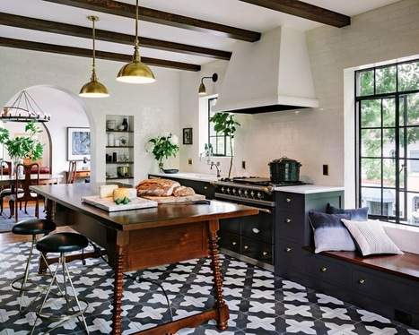 Kitchen Inspiration Cement Tile Cococozy Jessica Helgerson | www.pottyflipusa.com | interior design inspirations | Scoop.it