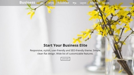 15+ Best Free WordPress Corporate Themes 2016 | Free & Premium WordPress Themes | Scoop.it