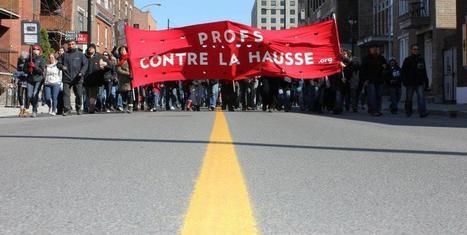 Profes en contra del aumento | Musée de la grève étudiante au Québec 2012 - Museo de la huelga estudiantil en Québec 2012 | Scoop.it