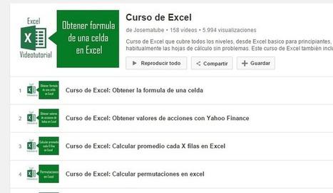 158 videos en español completan un buen Curso gratis de Excel - Nerdilandia | Cursos y Recursos Gratuitos | Scoop.it