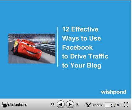 TRAFFIC - 12 Effective Ways to Use Facebook to Drive Traffic to Your Blog