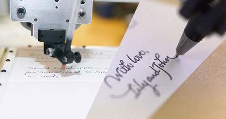Si vous avez la flemme de sortir votre stylo, ce robot peut imiter votre écriture à la perfection | Veille Innovation Lecture Ecriture | Scoop.it