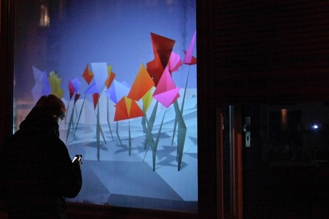 flourish | An Interactive Installation on a Public Display | Ahoi Interaction | art et machines | Scoop.it