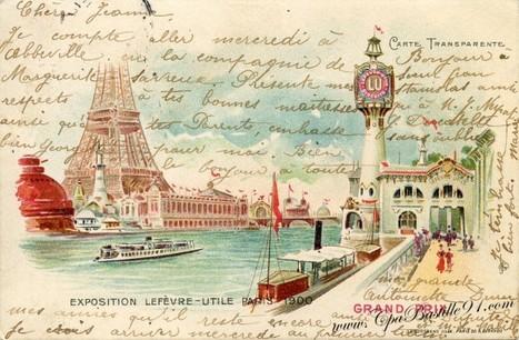 Exposition de Paris 1900 – Carte transparente – Biscuit LU | Cartes Postales Anciennes | GenealoNet | Scoop.it