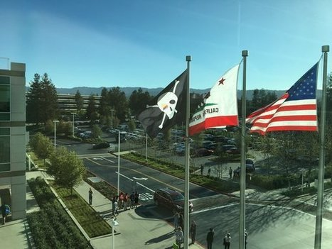 Pour les 40 ans d'Apple, le drapeau pirate flotte devant le 1, Infinite Loop | Mobile en france | Scoop.it