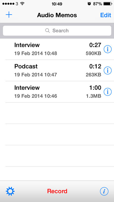 App for journalists: Audio Memos, for recording interviews | Media news | Journalism.co.uk | Hitchhiker | Scoop.it