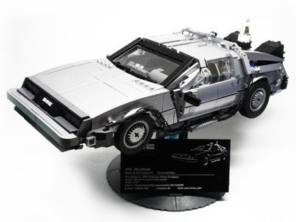 Geekcraft of the Day: Gorgeous scale model BTTF Delorean time machine | All Geeks | Scoop.it