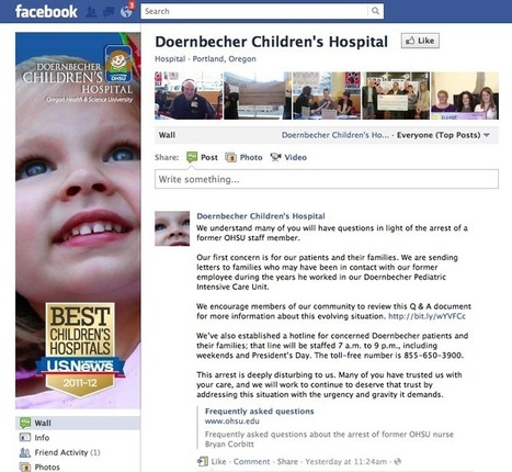 Children's hospital uses social media to address unthinkable | #HITsm | Scoop.it