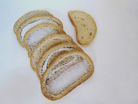 #Embroidered #Bread Slices by Terezia Krnacova Combine #Food and #Textile #Art | Luby Art | Scoop.it