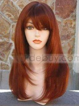 Charming Long Straight Red Wine about 16 Inches Synthetic Hair Wigs | cosplay | Scoop.it