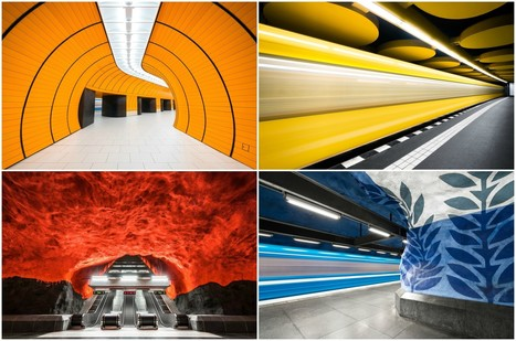 These Photographs Capture the Colorful Architecture of Europe's Metro Stations | retail and design | Scoop.it
