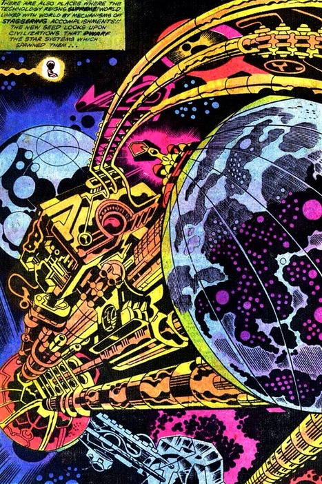"The Cosmic Beholder — transmissionsgeekroom: The universe is a series... | Jack ""King"" Kirby 