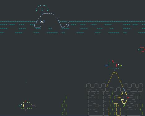 Asciiquarium Aquarium Screensaver for Linux with goldfish and sharks in ASCII art! | Webmaster Tips | ASCII Art | Scoop.it