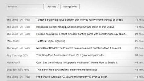 Litenin Is a Lightweight RSS Reader Perfect for Slow Connections | RSS Circus : veille stratégique, intelligence économique, curation, publication, Web 2.0 | Scoop.it