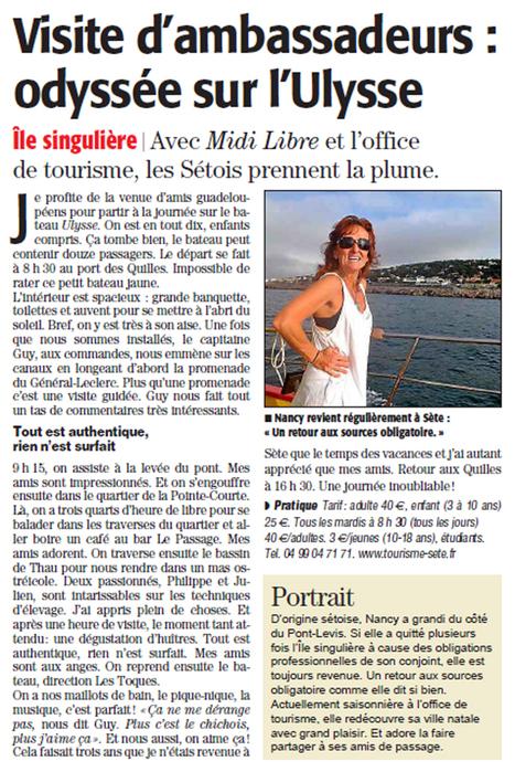 Une journée inoubliable à bord de l'Ulysse | Sète Tourisme : les ambassadeurs-reporters sur le terrain | Scoop.it