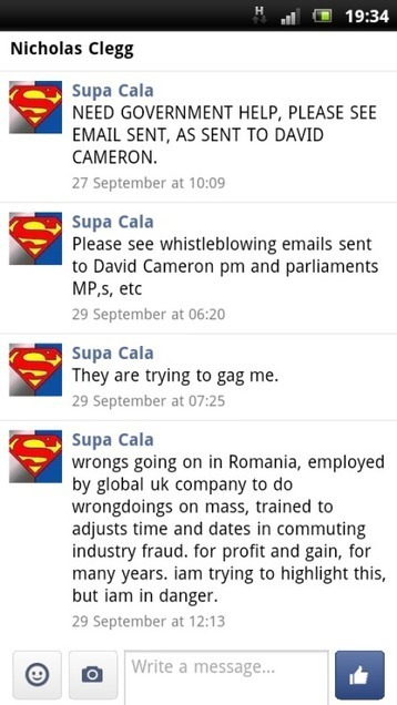 DISCLOSURE MADE TO NICHOLAS CLEGG MP, TWITTER, FACEBOOK, LBC RADIO,  EMAIL. | SUPACALA1, INDUSTRIAL FRAUD WHISTLE-BLOWER | Scoop.it