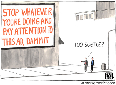 """Interruption Marketing"" cartoon 