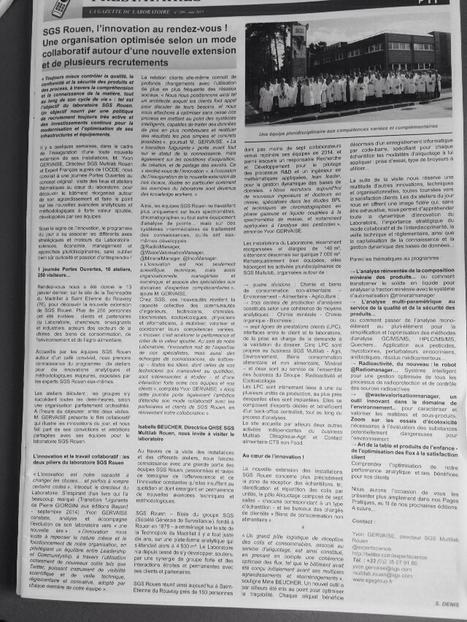 Mai 2015 la gazette du laboratoire publie un article innovation recrutement au laboratoire   Expertscience   Scoop.it