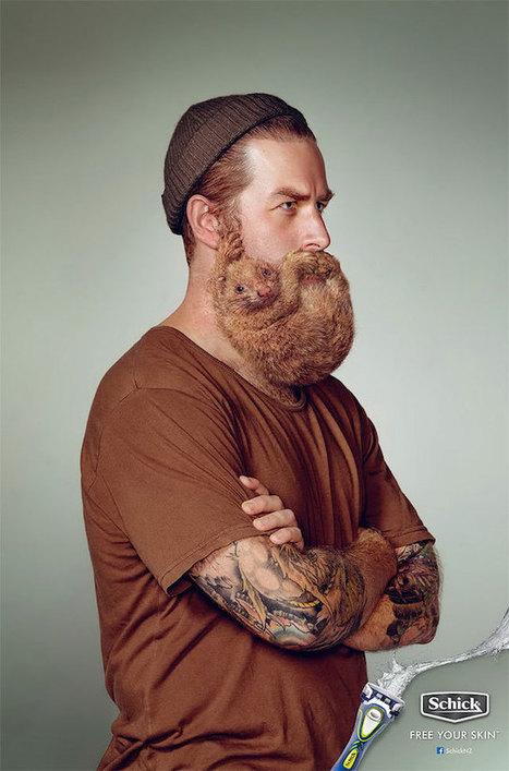 Animals in Men's Beards | ■Marketing Creativo - ADV - Campaign | Scoop.it