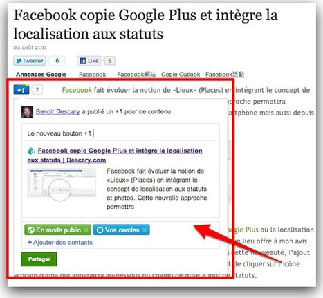 Le bouton +1 de Google devient pertinent et utile! | Descary.com | SocialWebBusiness | Scoop.it