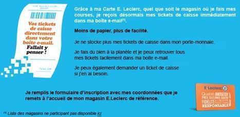 Leclerc lance le ticket de caisse électronique / Les actus / LA DISTRIBUTION - LINEAIRES, le mensuel de la distribution alimentaire | Le BCC! Conso 2.0 - Cahier de tendances et avenir de la consommation | Scoop.it