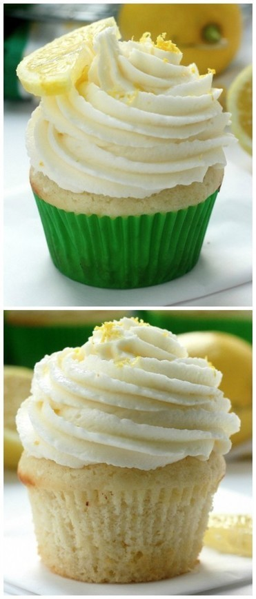 Light and Lovely Lemon Cupcakes - the BEST lemon cupcakes ever! An easy recipe that doesn't require any fancy ingredients or equipment! - Food And Drink For You | ♨ Family & Food ♨ | Scoop.it