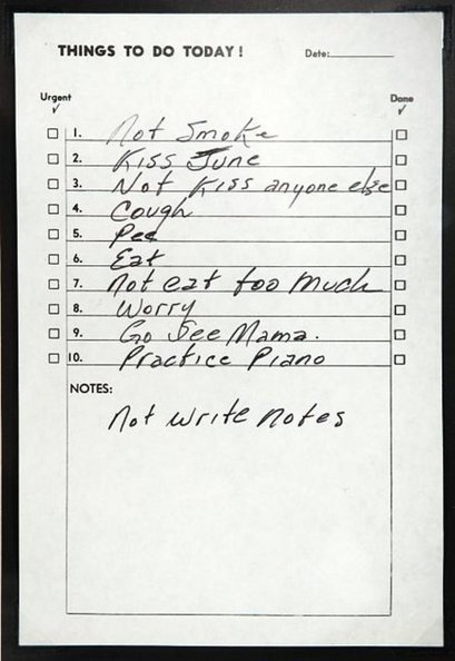 curiosity counts - Johnny Cash's to-do list, right up there with John... | Be Productive | Scoop.it