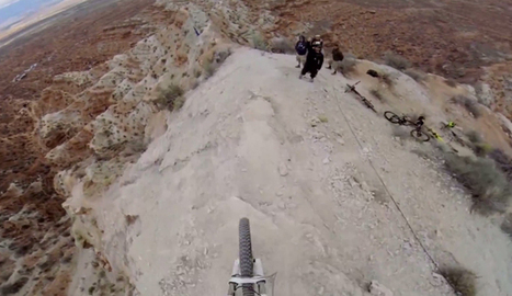 This GoPro Video Of A Biker Going Down A Ridge Line Will Leave Your Palms Sweaty | VideoPro | Scoop.it