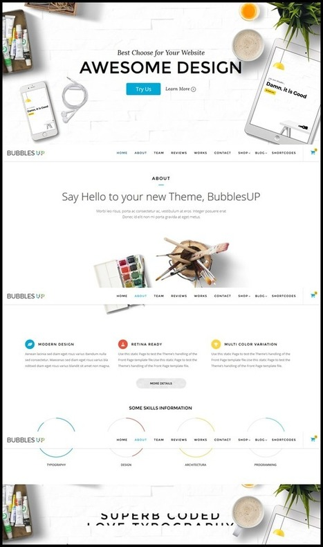 10 Polished Creative Wordpress Bootstrap Themes - Themes Pad | Bootstrap Themes | Scoop.it