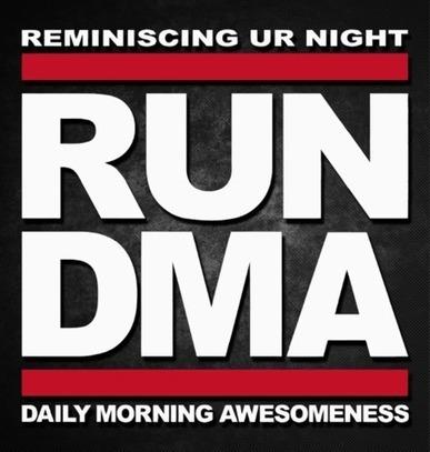 Reminiscing UR Night RUN DMA Daily Morning Awesomeness Sticker - #kcco KCCOdecals.com | KCCO | Scoop.it