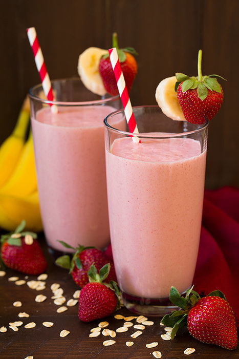 Strawberry Banana Oat Smoothie - Cooking Classy | Passion for Cooking | Scoop.it