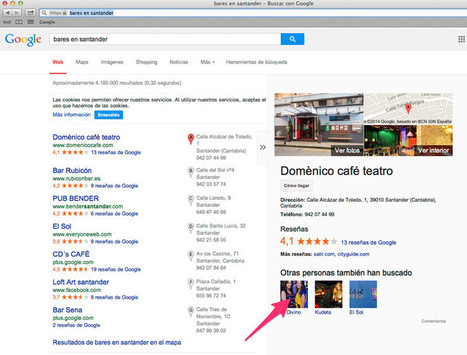 El Carrusel Local de Google ya está en España   Google Places, Geomarketing y LBS   Scoop.it