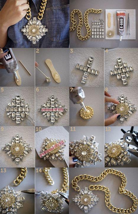 Zincirli taşlı kolye yapımı | Takı Tasarım | Pek Marifetli! | KADIN SİTESİ | Scoop.it