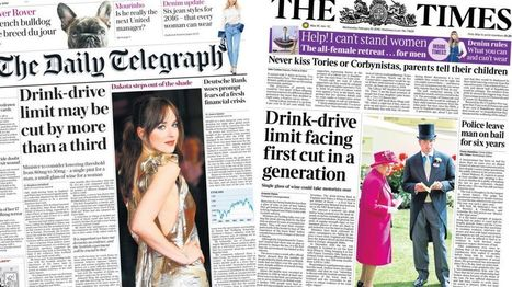 Newspaper headlines: Drink-drive limit talks and David Cameron cuts claims - BBC News | My Scotland | Scoop.it