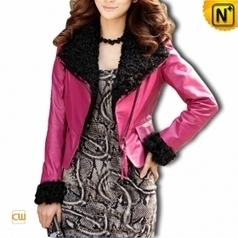 Women Sheepskin Leather Jacket CW610022 | Fur Trimmed Coats | Scoop.it