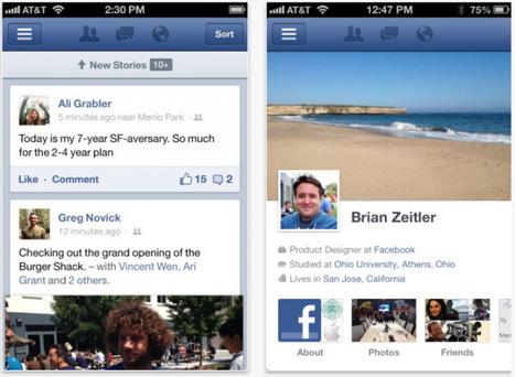 Facebook rediseña por completo su aplicación para iOS | Móviles y márketing digital | Scoop.it