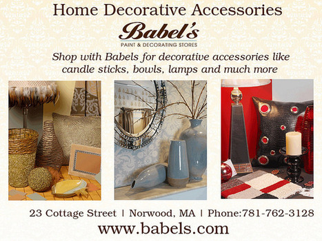Decorate your living space with babel's decorative accessories | Babels Paint and Decorating Stores | Scoop.it