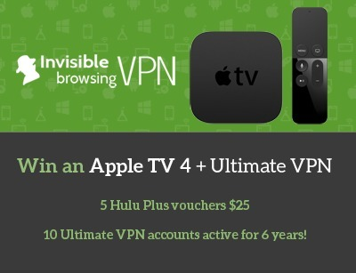 Anniversary Prelaunch - AppleTV 4 Giveaway, Hulu Plus vouchers and more   Invisible Browsing VPN   Scoop.it